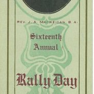 Rally Day at Saint David's Presbyterian Church, Saint John