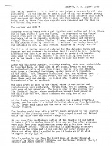 Report of YPU reunion in August 1988