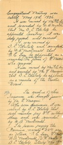 St. John's United Church congregational meeting minutes, May 19, 1936
