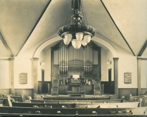 Interior of Grace Methodist Church. c. 1921