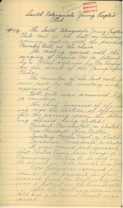 South Tetagouche Young People's Club minutes, September 1939