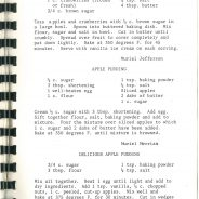 Archives Recipe of the Month-The Apple Edition