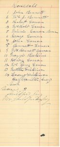 PC-1318-2 Rosedale membership list, 1890