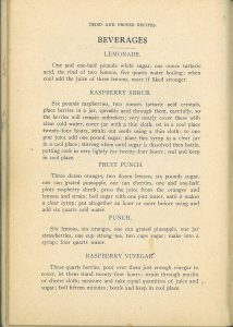 Tried and Proved Recipes-Beverages, 1909
