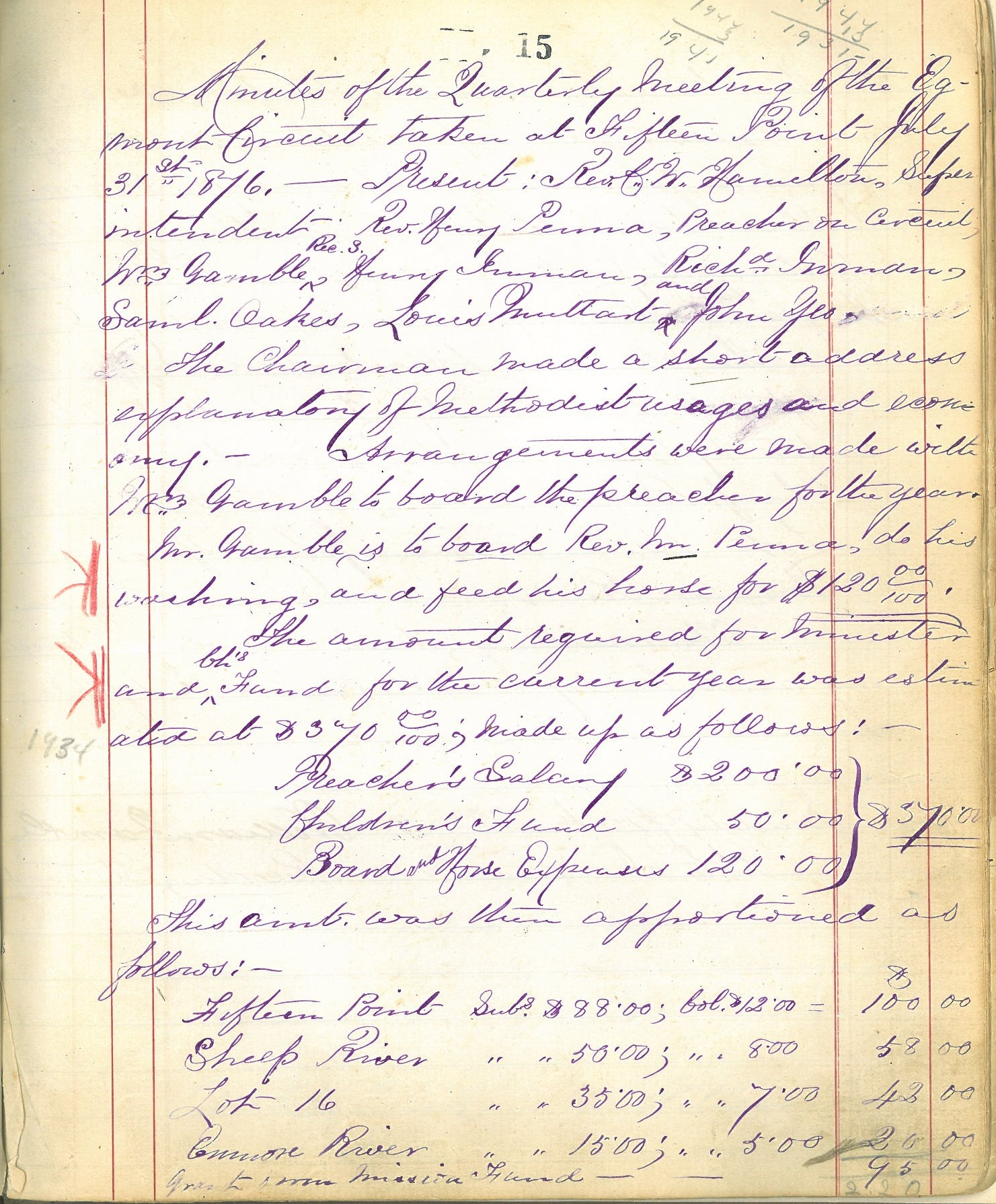 Bideford Pastoral Charge Records Listing