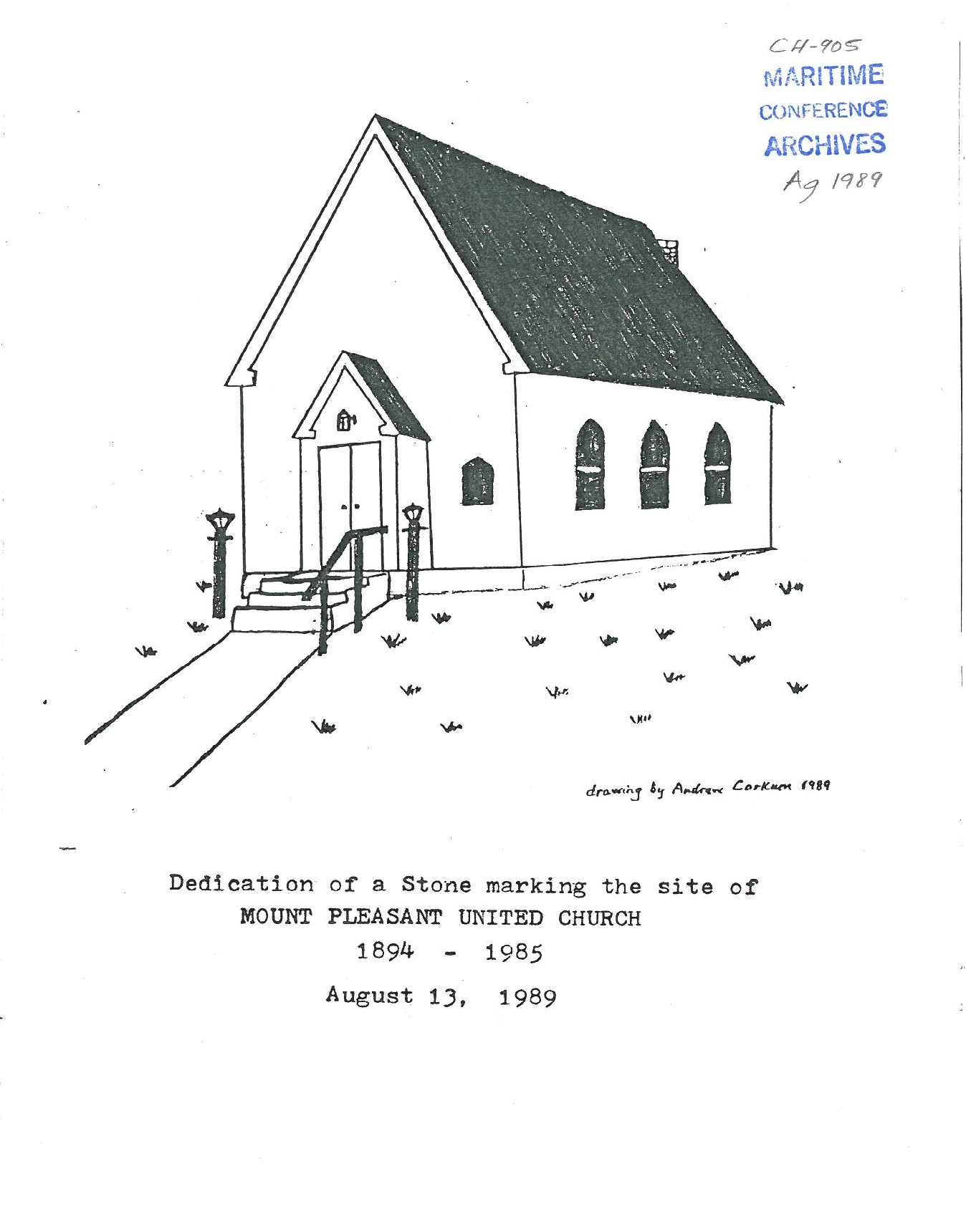 LaHave-New Dublin Pastoral Charge Records Listing