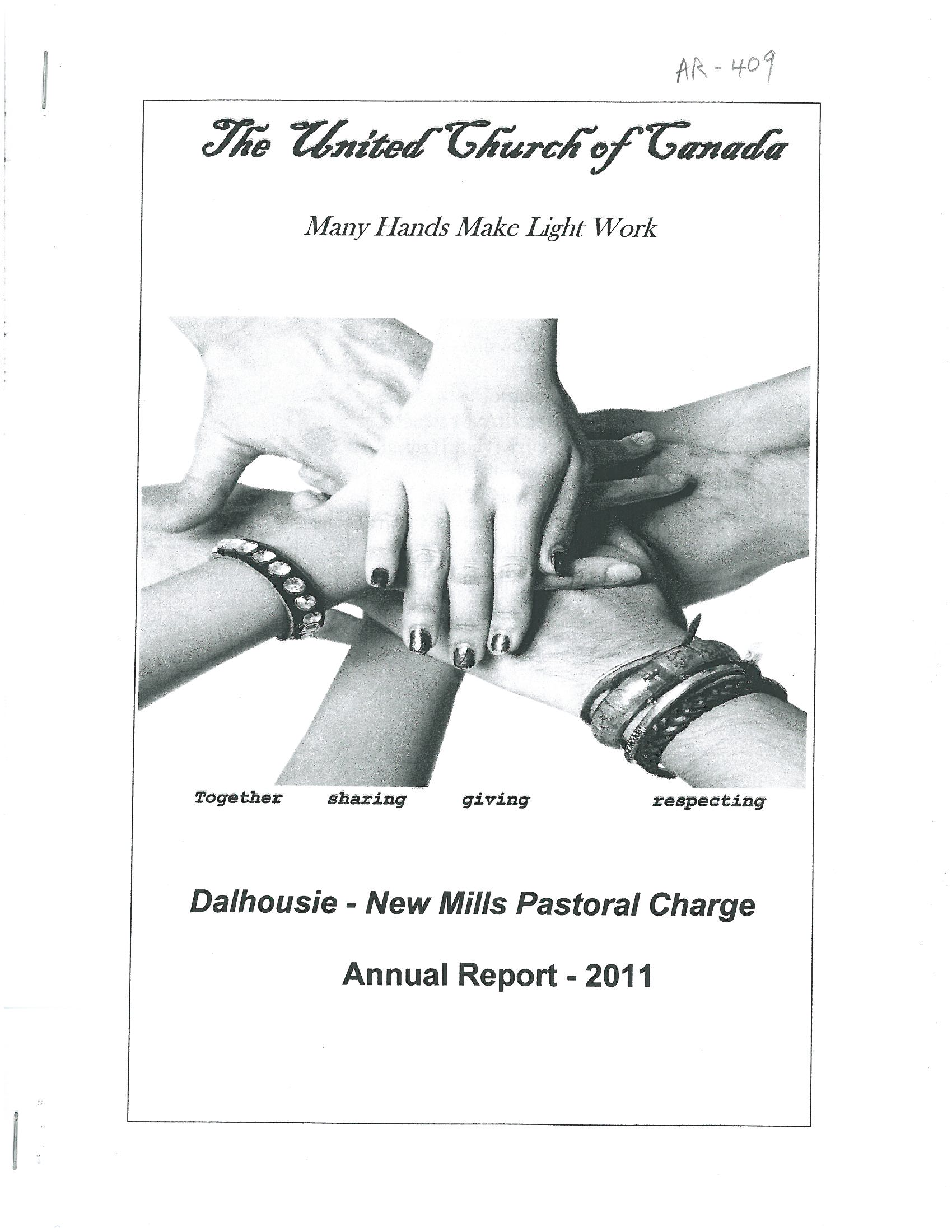 Dalhousie-New Mills Pastoral Charge records listing