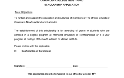 Post-Graduate Education Fund for Ministry Personnel Application for Funding